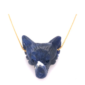 Stone Fox Necklace