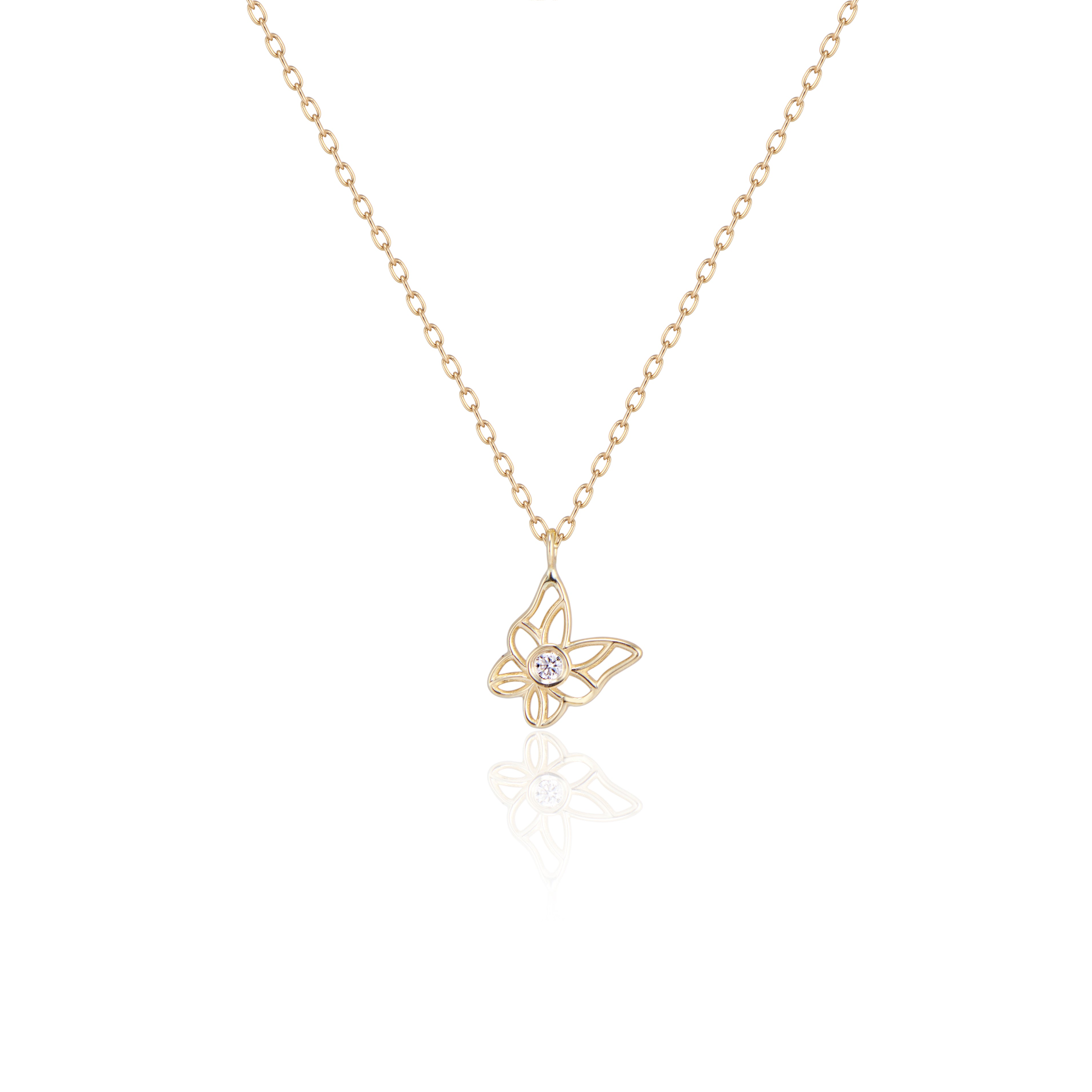 Butterfly Diamond Pendant
