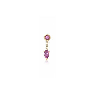 *Limited* Pink Sapphire Mini Drop Earring