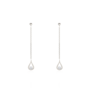 White Gold Venom Drop Diamond Earring