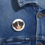Bernese face pin button | Custom Pin | Personalized gift
