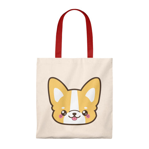 Tote Bag - cute corgi face