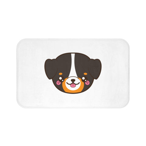 Home decor - Bernese face bath mat | Custom bath mat | Personalized gift