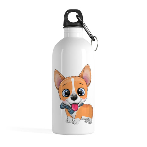 Stainless water bottle - Cute Corgi | Stainless steel water bottle | Custom water bottle