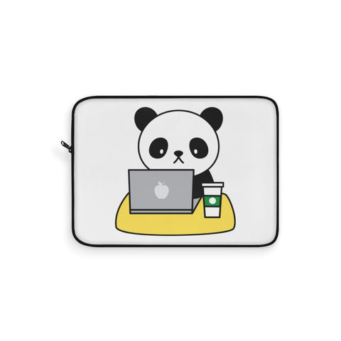 Laptop sleeve - Working Panda | Personalized gift | Custom personalized
