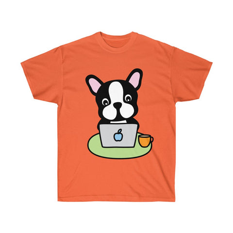 Men t-shirt with laptop bull dog Ultra Cotton Tee