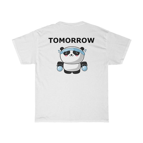 Tee for men with workout panda T-shirt for men