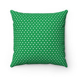 Christmas decorations - White dot green pillow | Christmas gift | Custom christmas pillow