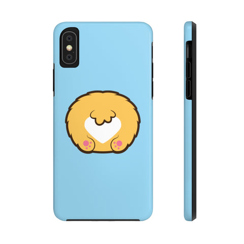 iPhone xs cases - Baby blue color corgi butt | iPhone cases mate tough