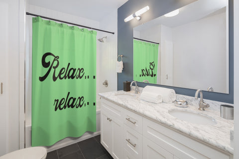 Shower Curtains - Relax relax green color