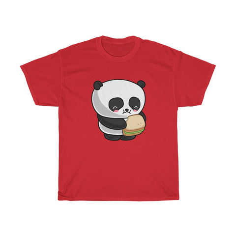 Funny tee shirts for men with eating panda