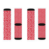 Christmas gifts - Snowflake red socks | Christmas socks women | Women socks