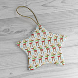 Christmas ornaments - Reindeer printed | Ceramic Ornaments | Christmas decor