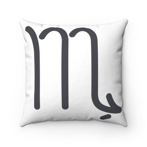 Scorpio Spun Polyester Square Pillow | Horoscope Pillow