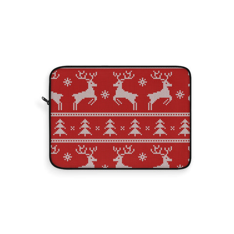Christmas laptop sleeve - Red Reindeer