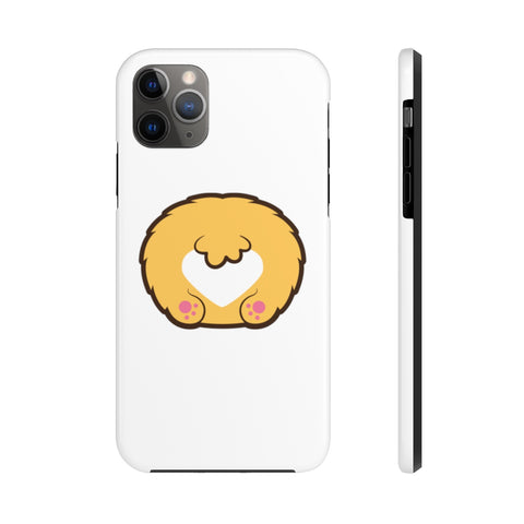 iPhone XR cases - White color corgi butt | iPhone cases mate tough
