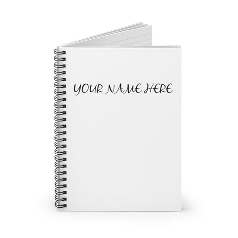 Custom Name Spiral Notebook - Ruled Line
