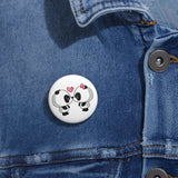 Personalized pin button - Cute panda kissing | Custom Pin | Personalized gift