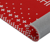 Christmas Rugs  - Red Christmas Background