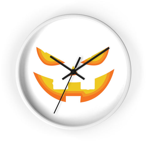 Wall clock pumpkin with no lines