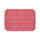 Christmas decorations - Snowflake red mat | Custom bath mat | Christmas gift