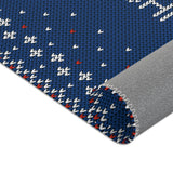 Christmas Rugs  - Blue Christmas Background
