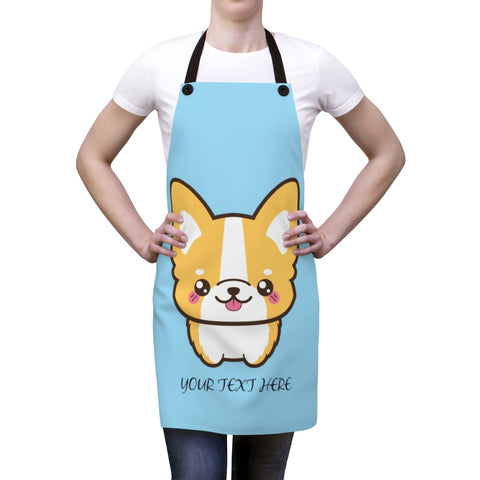 Apron for women - Cute corgi | Custom Apron | Personalized apron