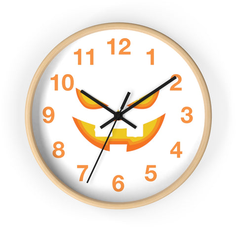 Wall clock pumpkin smile