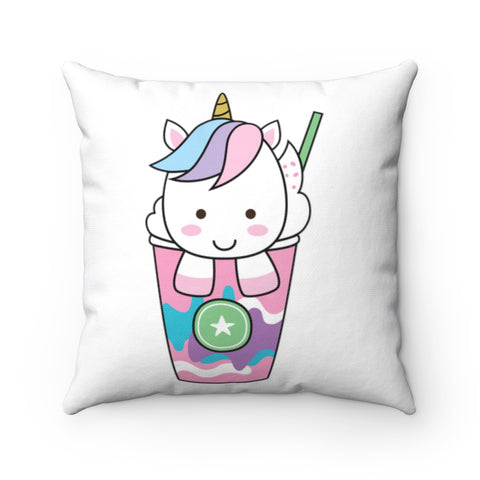 Unicorn Ice Cream Spun Polyester Square Pillow