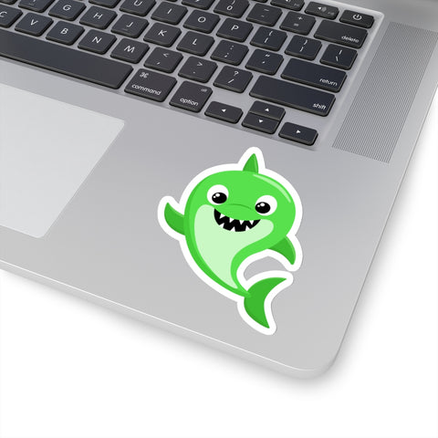 Baby shark Green Standing - Laptop Stickers | Custom Stickers