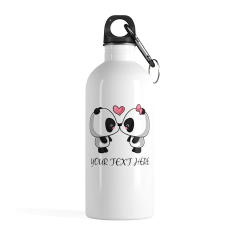 Personalized water bottle - Cute Panda | Personalized gift | Custom water bottle
