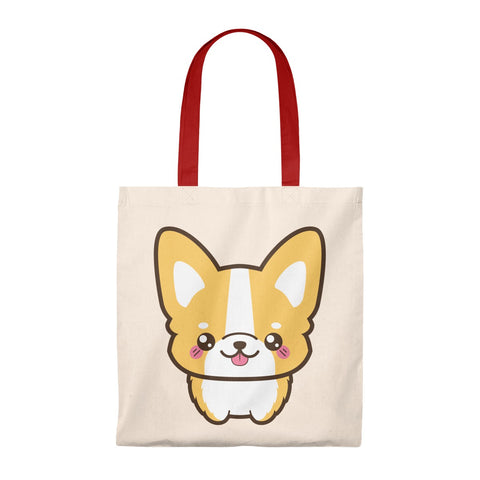 Tote Bag - Cute corgi face standing