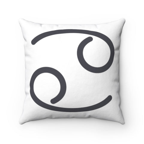 Cancer Spun Polyester Square Pillow | Horoscope Pillow