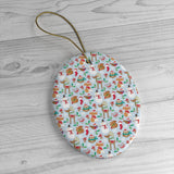 Christmas ornaments - Snowman printed | Ceramic Ornaments | Christmas decor