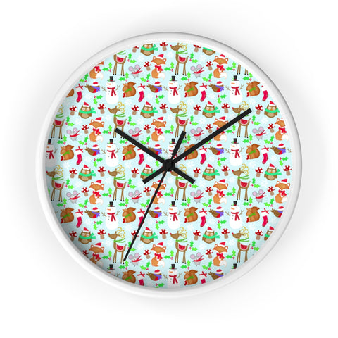 Christmas wall clock with no lines