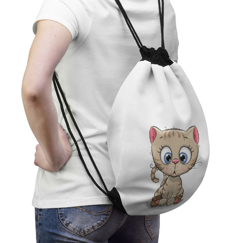 Drawstring Bag - Cute Kitty