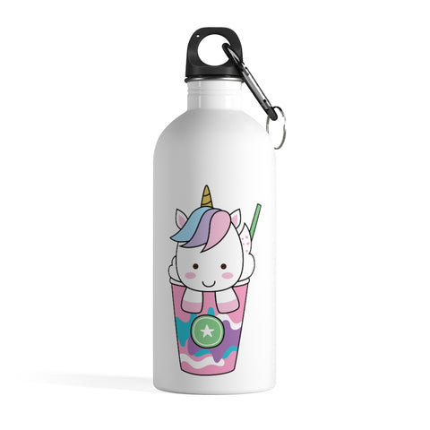 Stainless steel water bottle - Ice cream unicorn