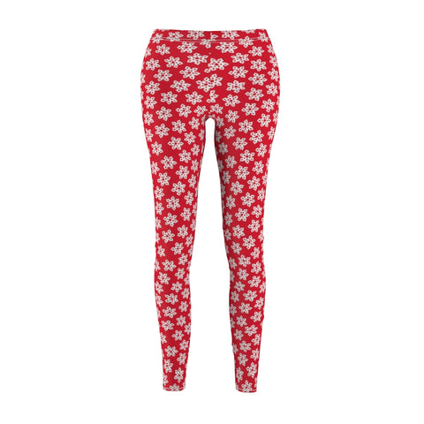 Leggings for women - Christmas snowflake red | Women leggings | Yoga pant | Christmas leggings