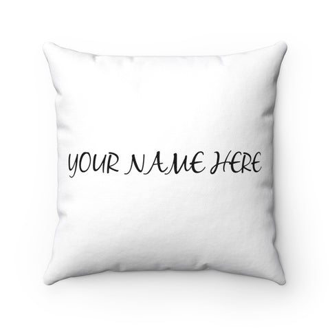 Personalized pillow with custom name