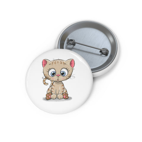 Personalized pin button - Cute kitty | Custom Pin | Personalized gift