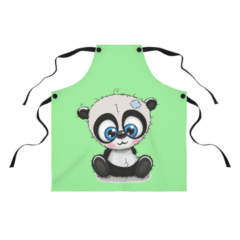 Apron for women - Light green sew panda | Custom Apron