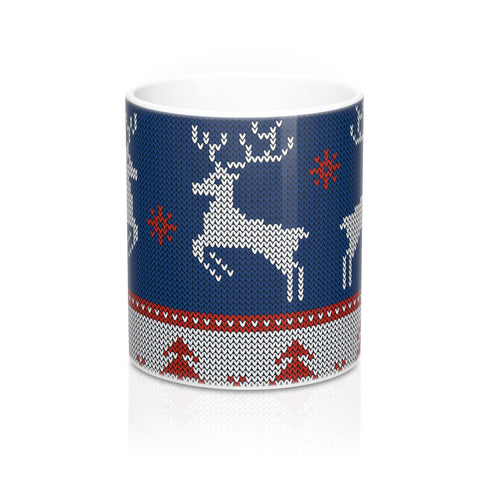 Christmas mug - Blue Reindeer | Coffee Mug