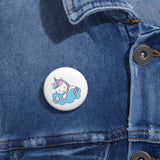 Personalized pin button - Sleeping Unicorn | Custom Pin | Personalized gift