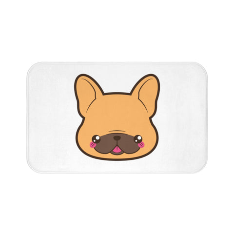Home decor - Frenchie face bath mat | Custom bath mat | Personalized gift