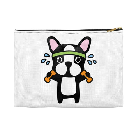Makeup bag - Workout bulldog | Custom makeup bag | Personalized makeup bag