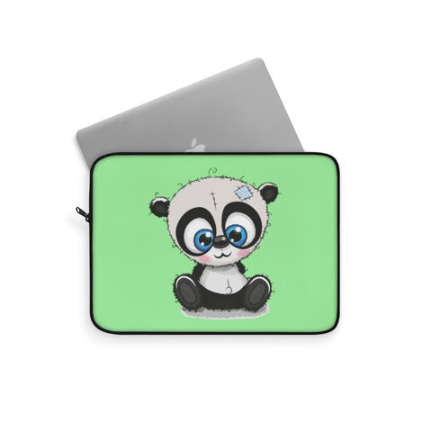 Laptop sleeve - Sew panda green color | Laptop pouch
