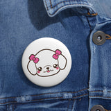 Poodle face pin button | Custom Pin | Personalized gift