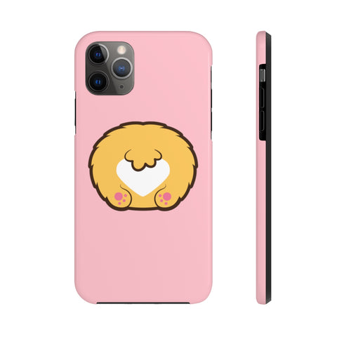 iPhone XS cases - Pink color corgi butt | iPhone cases mate tough