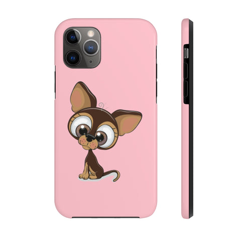 iPhone 11 pro cases - Chihuahua pink background color | iPhone x cases mate tough