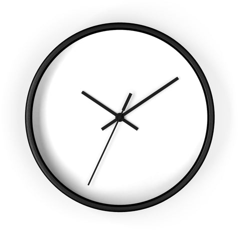 Wall clock plain background with no lines